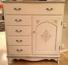 White with silver metallic detail