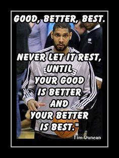 Tim Duncan San Antonio Spurs Basketball Quote by ArleyArtEmporium, $11.99