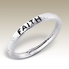 Silver ring with word FAITH - Finishing: Sterling silver+E-coat 925 Sterling silver Design from Bangkok925.com  Dimensions:  	0.00  nice Plain Silver Rings at $5.28