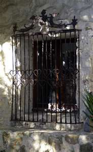 Mexico- use of wrought iron security windows is kind of common.