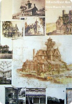 The inspiration for the final design for the home in Practical Magic