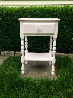 Cute bedside table , night stand, pink side table on Etsy, $64.00