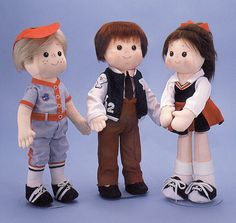 Tootie & Corky easy to sew doll patern from by CaroleeCreations
