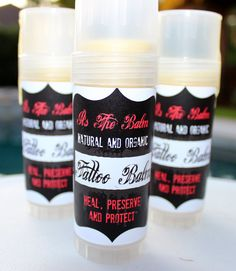 """Natural Tattoo Balm. Looking for a natural alternative for Tattoo aftercare? """"It's The Balm"""" has you covered. This Tattoo balm will help your tattoo heal and protect it from fading."""