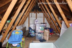 How to organize your attic + AtticMaxx Giveaway - daria Roof Storage, Attic Storage, Attic Truss, Stacking Bins, The Crawl, Garage Attic, Garage Organization, Product Offering, Giveaway