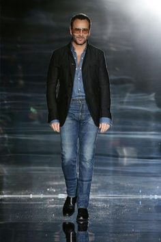 Tom Ford wearing Tom Ford Jeans. Image courtesy of Tom Ford.