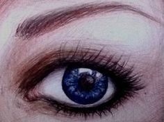 Ballpoint pen eye drawing by ~ATBones on deviantART