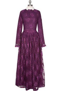 Elizabeth Gown - Plum www.hautehijab.com