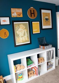 i've always loved this colour of blue for a wall