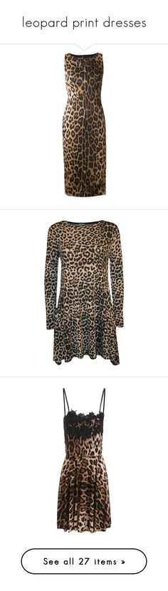 """""""leopard print dresses"""" by downeastgirl88 ❤ liked on Polyvore featuring dresses, brown, leopard dress, fitted dresses, brown fitted dress, leopard print dresses, tight leopard print dress, leopard, print dresses and tent dresses"""