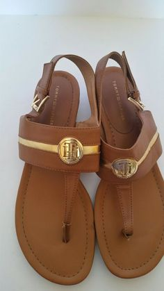 4029cbe244ab TOMMY HILFIGER Tan Thong Strap Flats Sandals Shoes Size 8.5  fashion   clothing  shoes  accessories  womensshoes  sandals (ebay link)