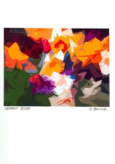 Abstract Bulbs Print  Archival Digital Print by modernmarks, $18.00