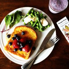Today's breakfast. French toast, Blueberry soy milk, My favorite chocolate - @keiyamazaki- #webstagram