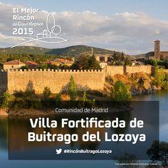 El dulce Lozoya sirve de foso a esta villa medieval, la única de la región que conserva íntegro su recinto fortificado, de origen musulmán. Con un perímetro de 800 metros, tres puertas y varias torres, esta muralla es desde 1931 Monumento Nacional. Apoya al #RincónBuitragoLozoya