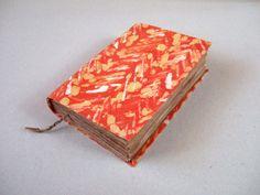 orange Handmade batik fabric journal notebook diary by Patiak, $26.00
