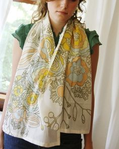 Blooms Scarf by Leah Duncan