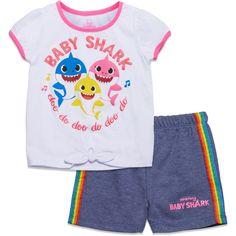 Pinkfong Baby Shark Short Sleeve Graphic T-Shirt & Shorts Set - 4T