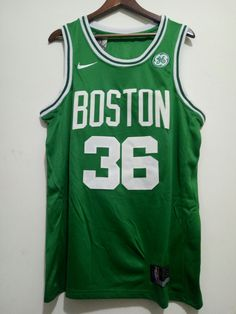 263e2ca5abe Mens Boston Celtics #36 Marcus Smart Basketball Stitched Jersey Green  2018-2019