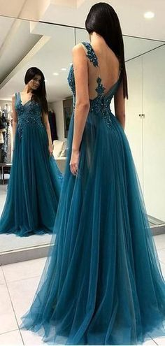 Unique Teal V Neck Side Slit A-line Long Evening Prom Dresses, Cheap Sweet 16 Dresses, 18350 Source by Prom Dresses For Teens, Prom Dresses Online, Cheap Prom Dresses, Dance Dresses, Long Dresses, Quinceanera Dresses, Fancy Dress For Teens, Teen Dresses, Dress Long