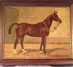 Oil Painting Race Horse by Wilhelm Westerop
