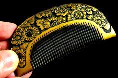 Antique Hair Comb | Antique Kanzashi Kushi | Hair Comb Kanzashi Antique | Kanzashi Hair Comb | Hair Kushi Antique by JapaVintage on Etsy