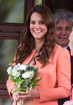 Look at that glow! Kate was all smiles despite being away from Prince William on their second wedding anniversary. If youre wondering, they apparently had a quiet, romantic dinner last Friday. Right now, the Duke is away on Royal Air Force business.