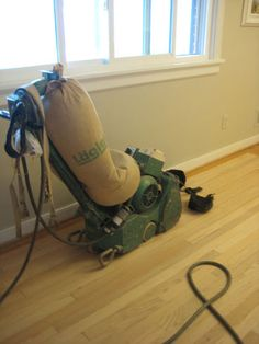This is a helpful description of what happens when somebody refinishes your hardwood floors. We may be going this route, if we can afford it... otherwise, it's all us!