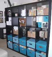 Craft room re-do with the Expedit shelving system :0)