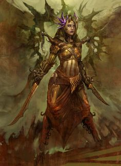 View an image titled 'Sidhe Female Art' in our Guild Wars: Eye of the North art gallery featuring official character designs, concept art, and promo pictures. Fantasy Warrior, Fantasy Rpg, Dark Fantasy, Elves Fantasy, Guild Wars, The Crow, Star Citizen, Game Character Design, Character Art