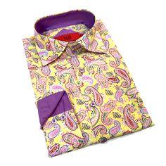 Elie Balleh Men's Milano Italy Multicolor Print Slim Fit Shirt