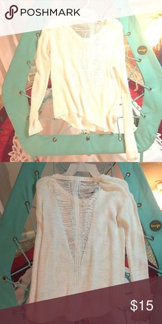 Sweater with cool cut on back! Look at the second photo! Aeropostale Sweaters V-Necks