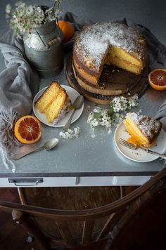 coconut and orange cake