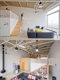 Loft dans une ancienne cantine Etagere Cube, Loft, Architecture, Amsterdam, How To Plan, House, Furniture, Home Decor, Arquitetura