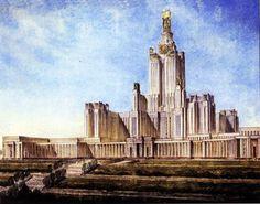 Проект университета на Ленинских горах. Архитектор Борис Иофан.