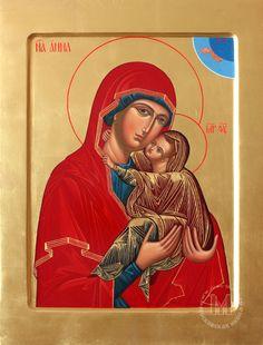 Anna holding the Virgin Mary Saint A, Mama Mary, Santa Ana, Byzantine Art, Orthodox Christianity, Orthodox Icons, Mother Mary, Religious Art, Virgin Mary