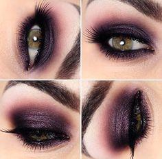olho esfumado com sombra roxa #lindissimo