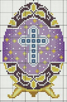 Such a pretty, detailed Easter crochet graph.