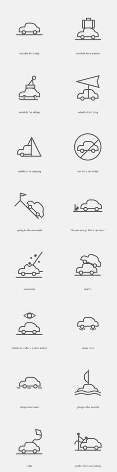 Free Icons for the Weather Situations on Behance