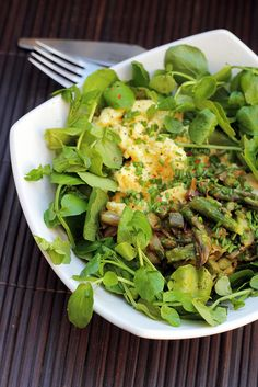 Scrambled eggs, Asparagus and Watercress - 71/365