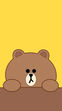 Wings Wallpaper, Brown Wallpaper, Bear Wallpaper, Marvel Wallpaper, Kawaii Wallpaper, Wallpaper Backgrounds, Iphone Wallpaper, Line Brown Bear, Cony Brown
