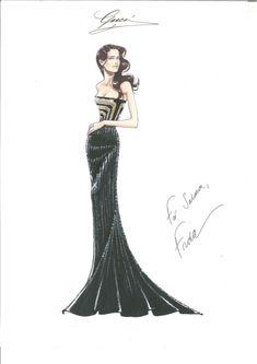 Gucci sketch of Selma Hayak