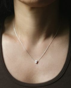 Baby Skull Necklace in Sterling Silver by MichelleChangJewelry, $68.00    I love this shop's jewelry.