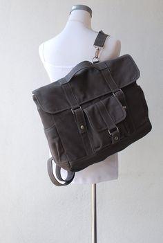 Sale 15% off - Pico2 Backpack in Dark Grey (Water Resistant Insulated) - Unisex Satchel / Rucksack // $59.00 // via Etsy.