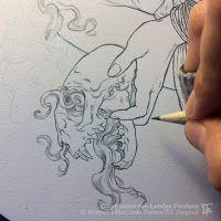 Béatrice Tillier: Crayon bleu et gris