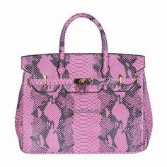 Huntress Python Leather Bag - Purple