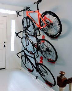 Hang your bike or make it pay rent. DaHANGER Dan pedal hook.