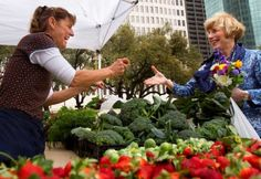 Farmer's Market outside City Hall in Houston, Texas.
