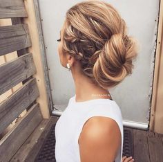 Side Braids into a Bun