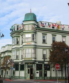 """14. The entire city of Eureka is a state historic landmark and has hundreds of significant Victorian structures.  The beautiful Eagle House Victorian Inn has been sitting majestically on the corner of 2nd & """"C"""" Streets in Old Town Eureka since the 1880's."""