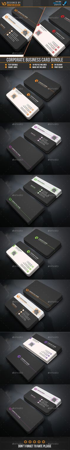 Corporate Business card Bundle — Photoshop PSD #standard #black • Available here → https://graphicriver.net/item/corporate-business-card-bundle/15352180?ref=pxcr